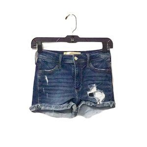 Hollister Distressed High Rise Shorts 1
